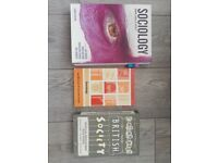 3x Core Sociology Textbooks UNI/COLLEGE