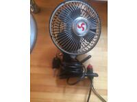 12v oscillating car fan