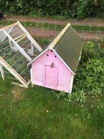 Chicken coop for sale with run attachment
