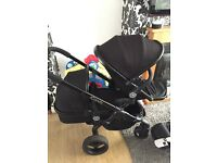 Icandy peach 3 blossom jet black lots of extras