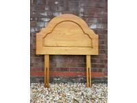 Single solid pine headboard