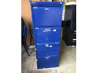 4 draw Beasley filing cabinet second hand blue