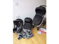 Britax Affinity pram pushchair with car seat 3 in 1 Black / grey CAN POST