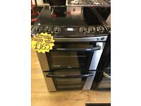 ZANUSSI 55CM CEROMIC TOP ELECTRIC COOKER IN SILIBER