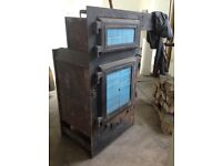 Antique range / fireplace - cast iron