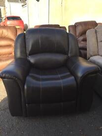 Ex-display**Brown leather reclining armchairs - £160 - CALL TODAY!!!