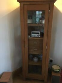 Oak Glazed Cupboard
