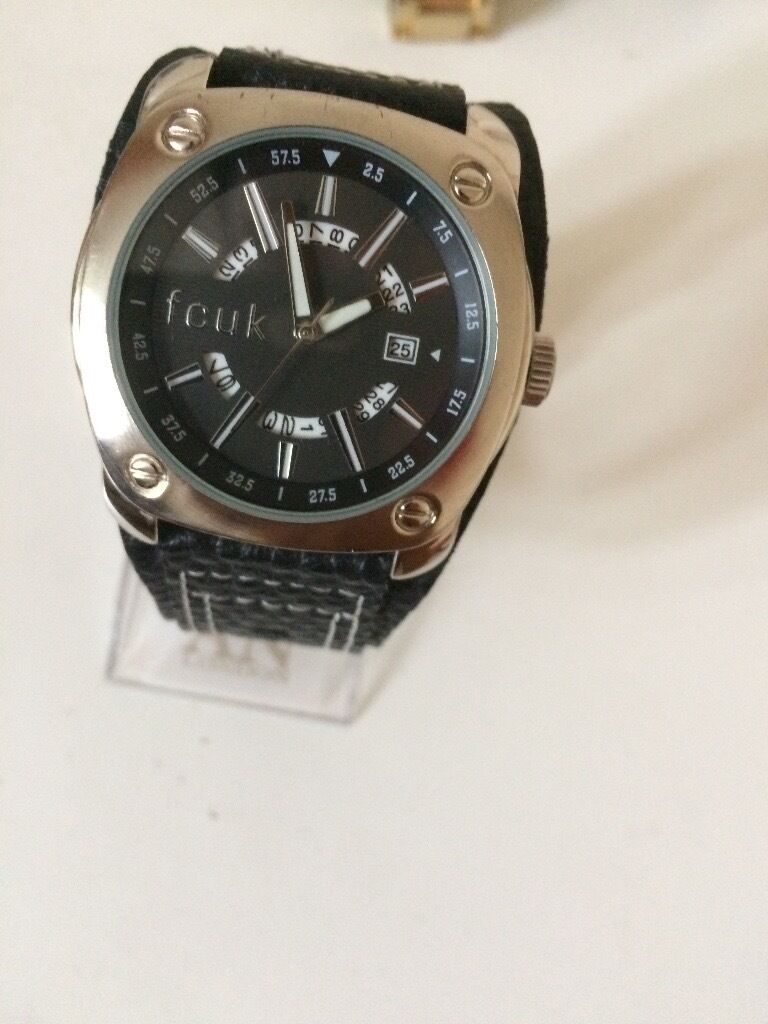 fcuk mens watch leather strap very good condition in leicester fcuk mens watch leather strap very good condition