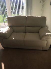 Beautiful off white leather sofa