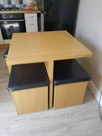 Table and Storage stools