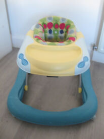 BLUE/ Yellow baby walker. CAR. Good condition