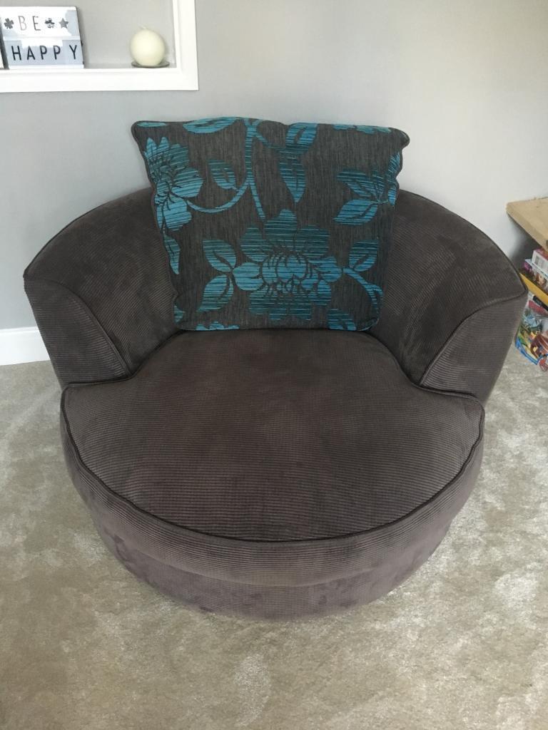 Swivel cuddle arm chair | in Bradford-on-Avon, Wiltshire ...