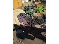 2 x Wetsuits and 1 x Drysuit and 4 x Waders and 1 x Tent £60 Job Lot