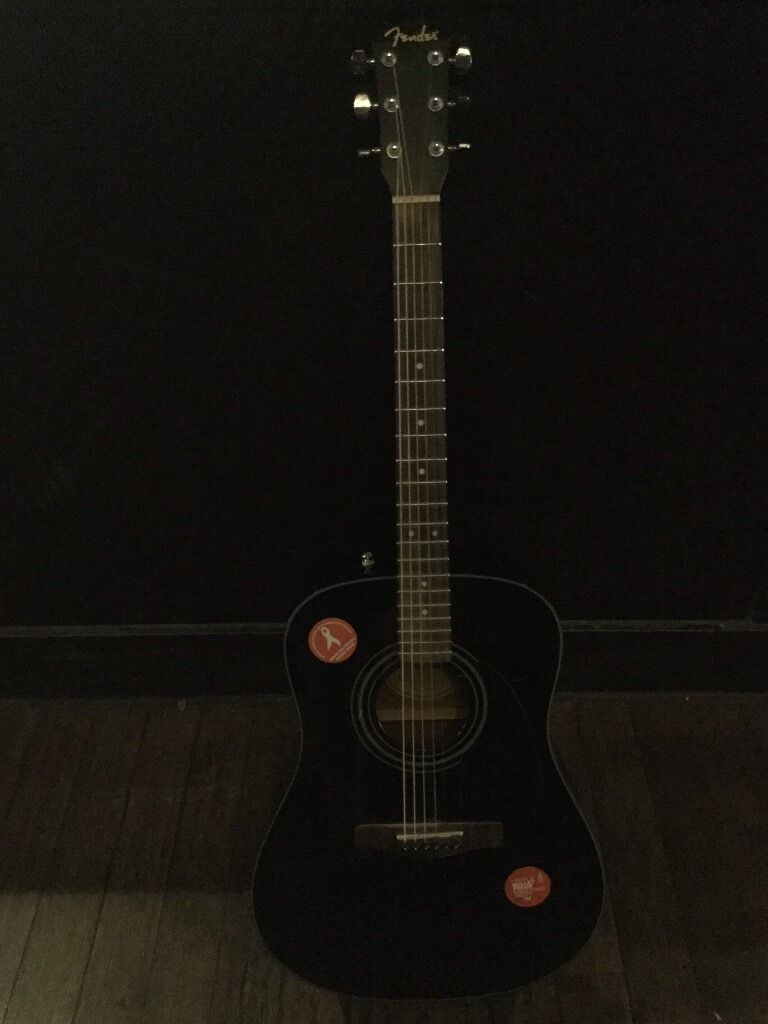 Fender MA 1 acoustic guitarin Poplar, LondonGumtree - These retail at £120. Selling because Im upgrading. Bought it about 5 years ago from Denmark Street. About this guitar Has two stickers on it (amnesty / womens rights) High e string currently missing few superficial scratches Collect / drop off in...