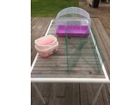 Hamster cage, travel case and playpen