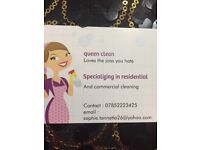 Queen clean specialising in residential and commercial cleaning
