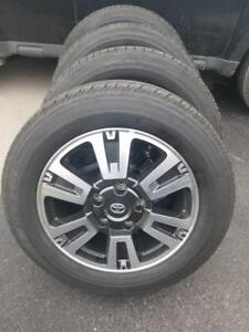 BRAND NEW TAKE OFF 2018 TOYOTA TUNDRA  FACTORY OEM 20 INCH ALLOY WHEELS WITH HIGH PERFORMANCE DUNLOP 275 / 55 / 20 TIRES