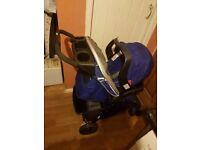 Blue graco travel system