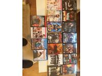 Selection of DVDs for sale