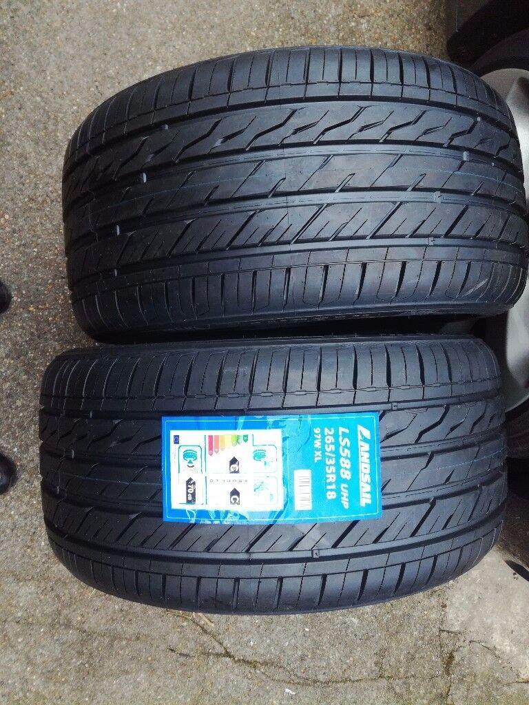 Tyres x2 265 35 18 new