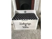 Personalised toy box/ blanket chest