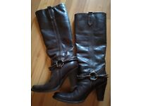 High quality leather country boots size 4/37
