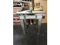 Frosted Diamond Sparkle Mirror End Table