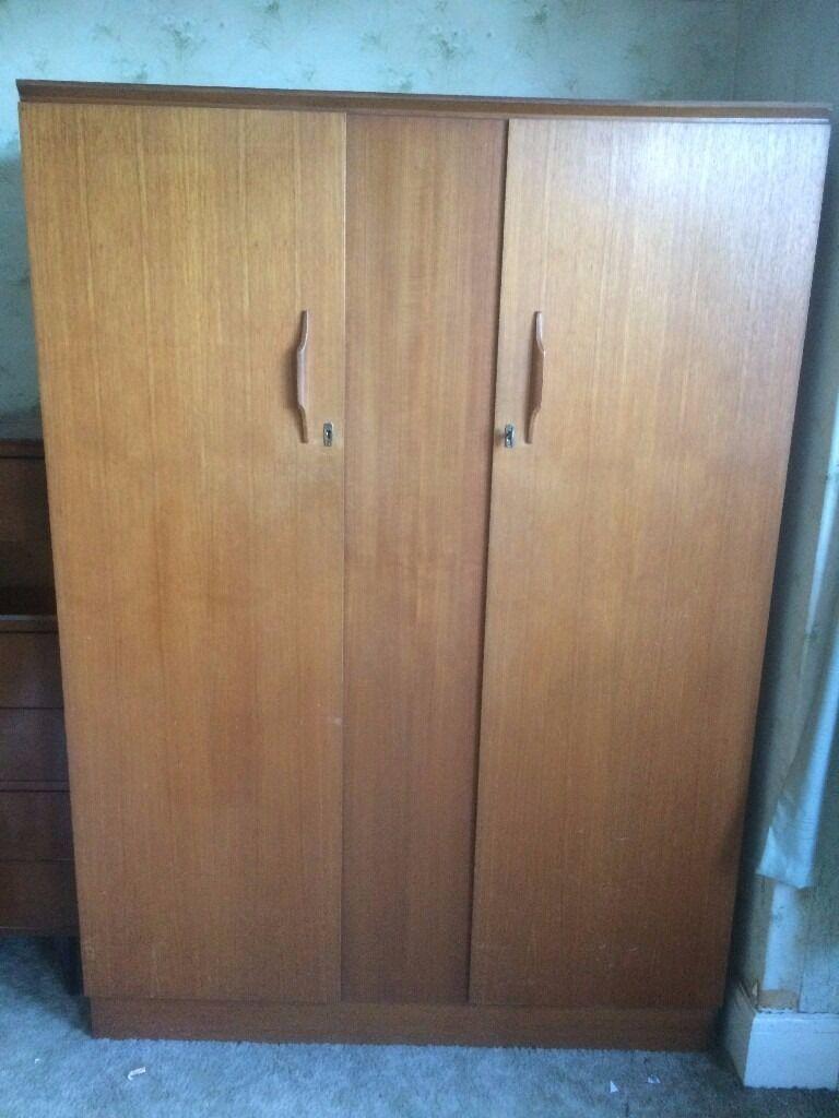 Bedroom Furniture Bristol Wardrobe Vintage Retro Beeanese Double Wardrobe Genuine Item