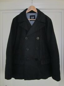 Gap Mens Navy Canvas Quilted Peacoat | LIMITED EDITION | Size Small