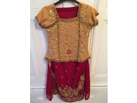 Indian wedding dress aged 7-10 years
