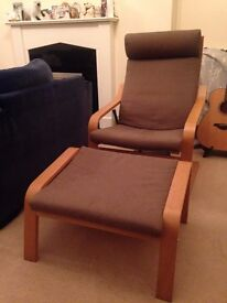 Lounger with footrest (Excellent condition)