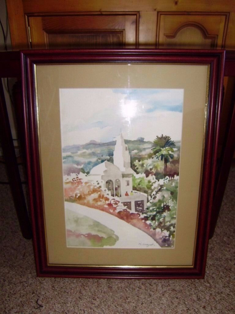 Original water colour painting, very beautiful, glass frontedin Lower Earley, BerkshireGumtree - Original water colour painting, very beautiful design, glass fronted. £8, perfect condition
