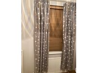 Next grey and white star blackout curtains
