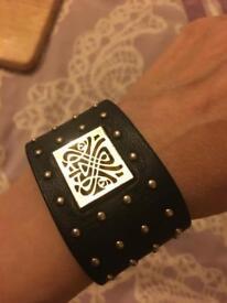 Biba real leather bracelet