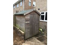 5ft x 6ft wooden garden shed - great condition, only a couple of years old