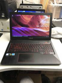 "ASUS ROG FX503VD-DM078T 15.6"" Gaming Laptop i5-7300HQ 2.50GHz, 8GB RAM, 256gb SSD, GeForce GTX 1050"