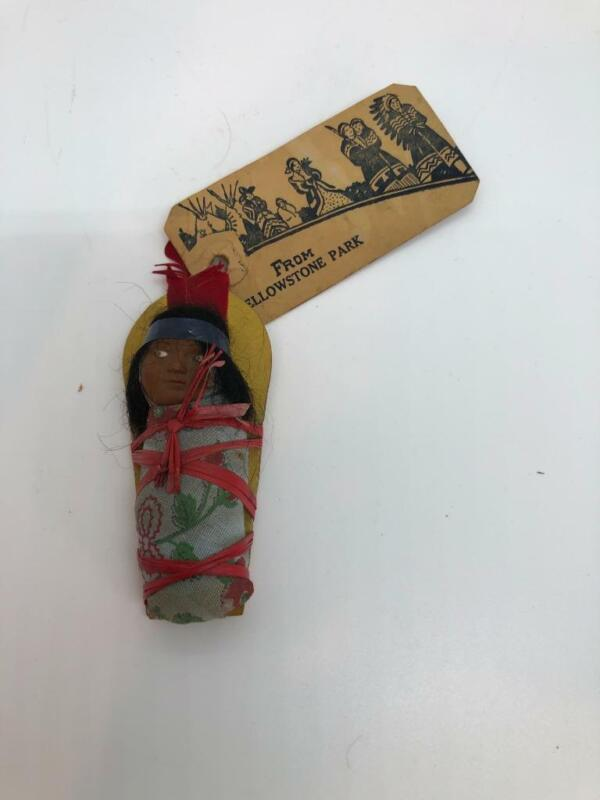 Vintage 1930s Yellowstone Park Mailable Souvenir Indian Papoose