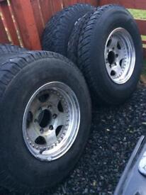 Looking for a spare wheel Mitsubishi shogun.