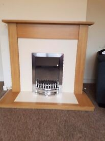 Electric fire and surround £50