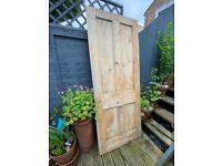 Victorian Antique pine internal door