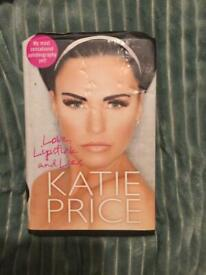 Katie Price Hardback book Love, lipstick & lies perfect Christmas gift for a reality star book worm.