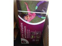 Brand new in box plum junior trampoline