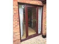 Mahogany PVC door & frame