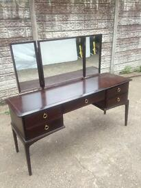 mahogany dressing table + mirrors only £35 good bargain price cash on collection