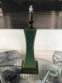 Large green porcelain lamp