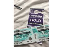 2 4 day gold camping creamfeilds tickets for sale 2 for £500 or £300 each