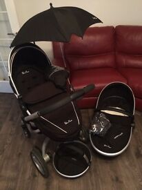 Silver Cross Pram, travel system, carrycot and pushchair