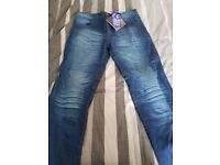 Motorbike Jeans - 36 Waist - Short Leg