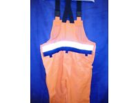 Mens Cofra Baras Tuttle Work Overalls in Orange – Size XXXL