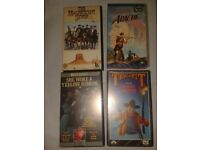 VHS tapes 4 westerns MAGNIFICENT SEVEN TRUE GRIT APACHE SHE WORE A YELLOW RIBBON John Wayne and more